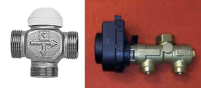 Клапаны термостатические 3-ходовые для отопления