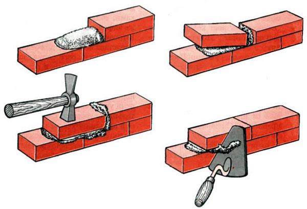 Как ложится кирпич