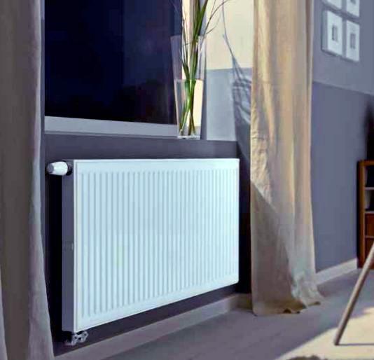 Стальной радиатор в интерьере