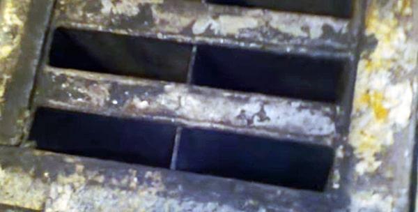 Чугунный теплообменник после очистки