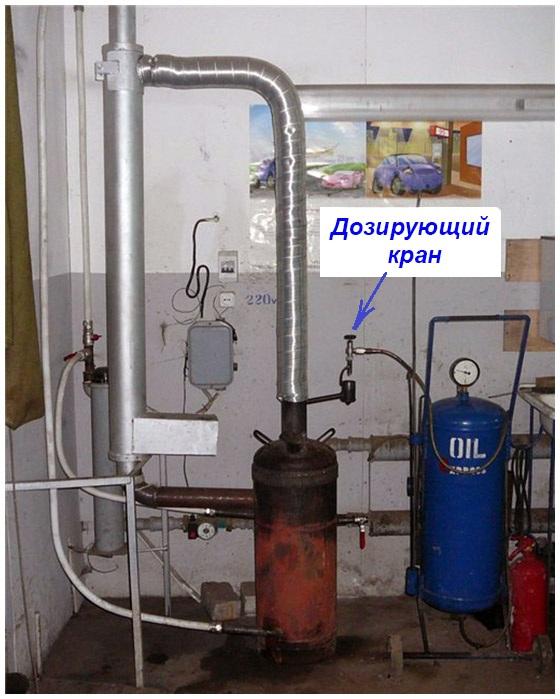 Подача топлива в печь