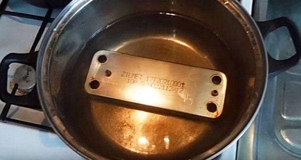 Пластинчатый теплообменник ГВС – промывка кислотным раствором