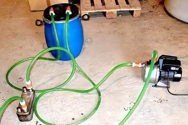 Самодельная установка для промывки котлов