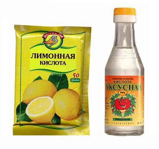 Пищевая лимонная кислота для промывки