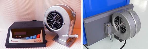 Автоматика ТТ-котла – блок управления и вентилятор