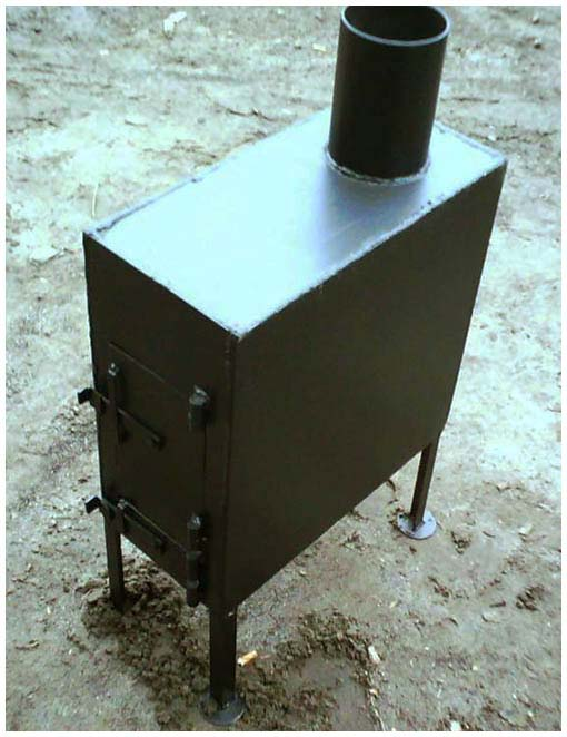 Готовая металлическая печка-буржуйка