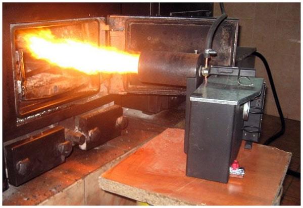 Самодельная масляная горелка для железной печки