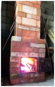 Мини-печка из кирпича