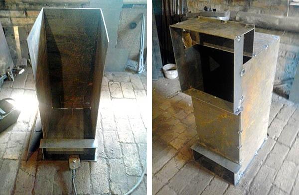 Сборка камеры сгорания дровяного котла