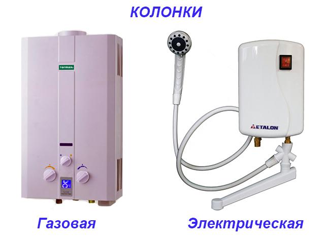 Нагреватели для протекающей воды