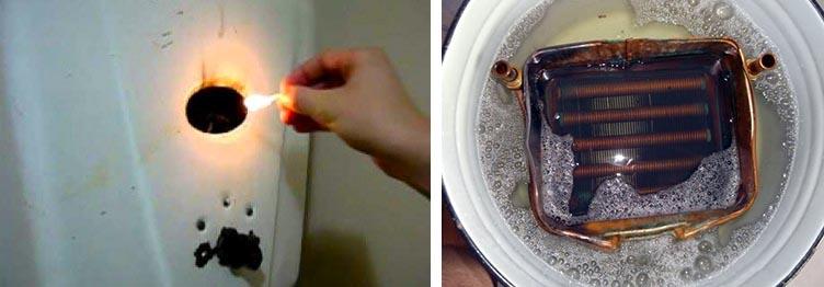 Обслуживание нагревателя для ГВС