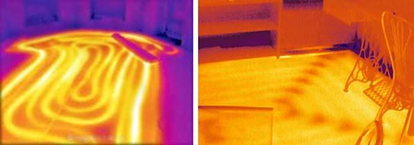 Тепловизионная съемка напольного отопления