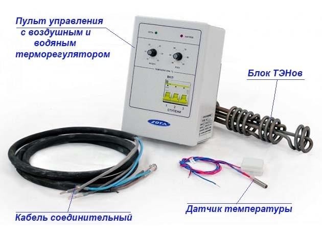 Монтажний комплект для електро-дров'яного котла