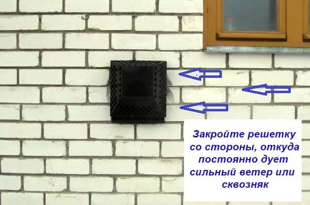 Як захистити димар котла від поривів вітру