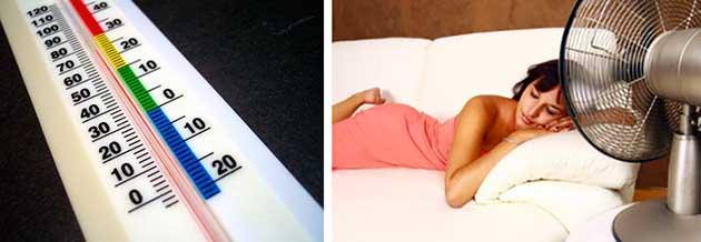 Девушка спит под вентилятором