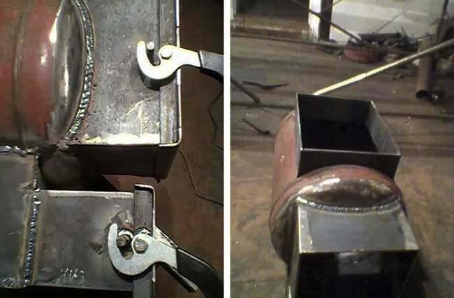 Як прикріпити ручки дверцят буржуйки