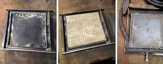 Як зробити дверцята саморобної печі