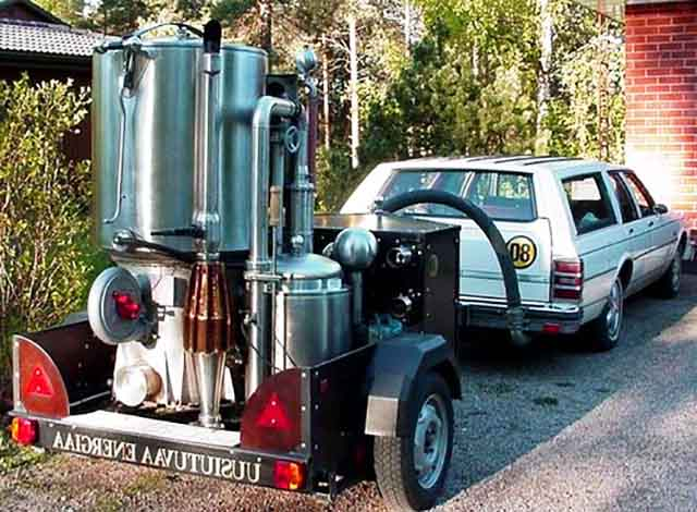Газогенераторная установка на прицепе автомобиля