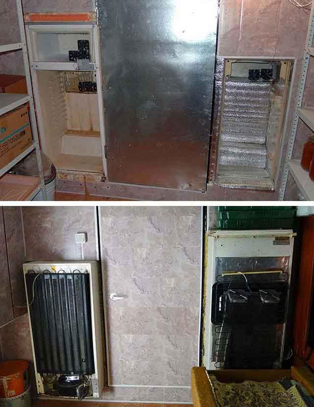 Встроенные в перегородку холодильники