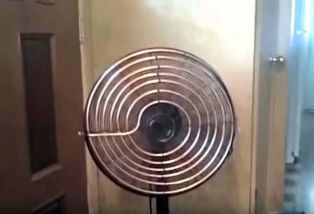 Вентилятор з охолоджуючим контуром