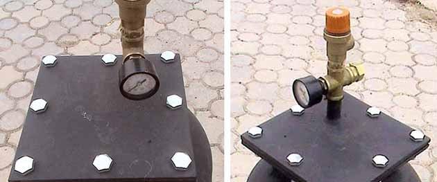 Установка предохранительного клапана на автоклав