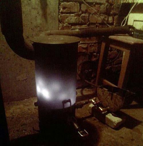 Как работает печь-капельница