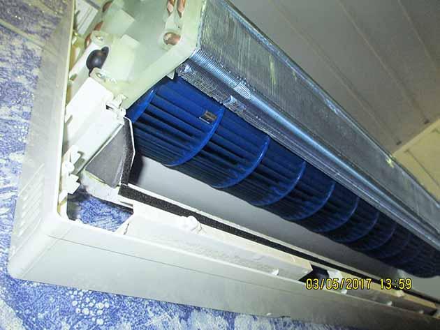 Турбина вентилятора после очистки