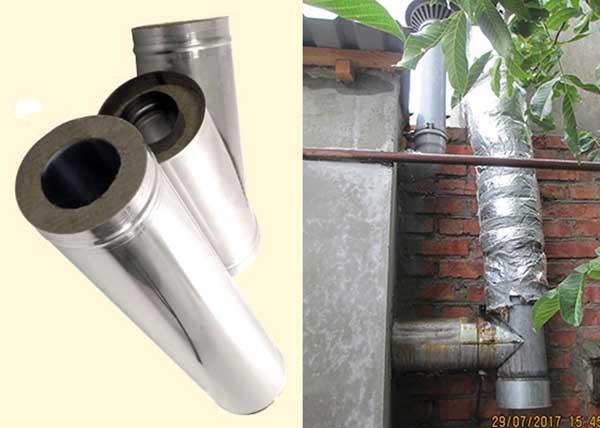 Монтаж димохідної труби до твердопаливного котла
