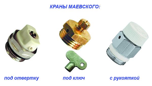 Типы радиаторных вентилей