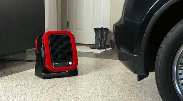 Электрический тепловентилятор переносного типа