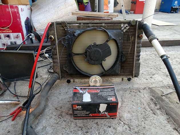 Саморобний агрегат повітряного обігріву з радіатора