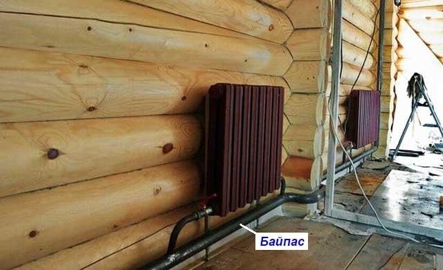 Система отопления ленинградка в деревянном доме