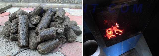 Как горит брикетированная лузга семечек