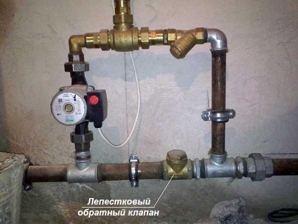 Монтаж байпасного узла отопления