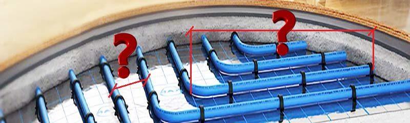 Как подобрать мощность, длину и шаг укладки трубы