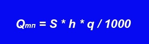 Формула розрахунку теплового потоку, що надходить до кімнати ззовні