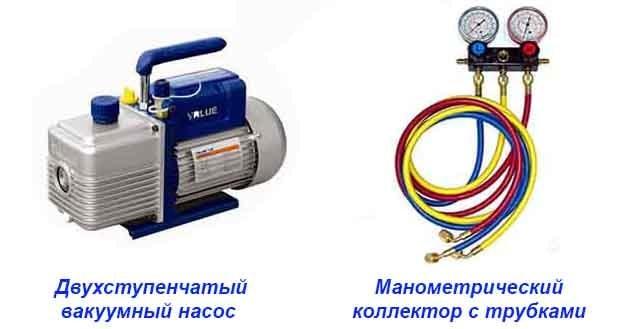 Заправне устаткування - насос і манометричний колектор