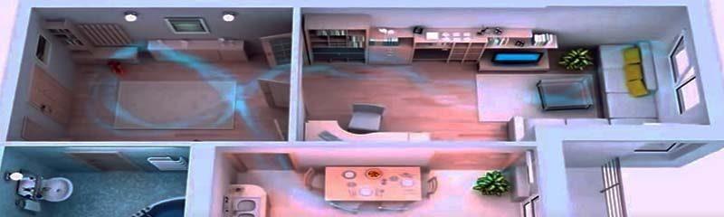 Движение воздуха по комнатам
