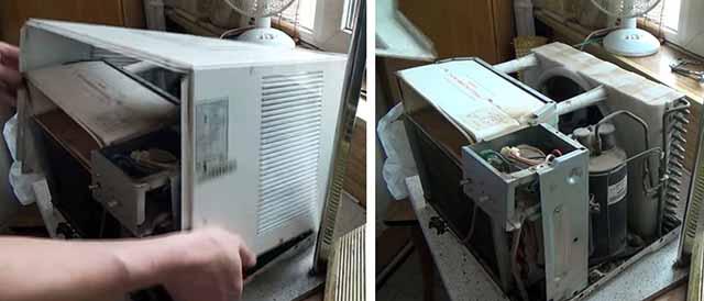 Як розібрати віконний охолоджувач повітря