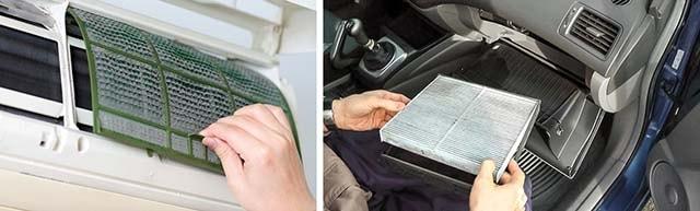 Як витягнути фільтр автомобіля і домашнього кондиціонера