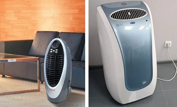Напольный охладитель в интерьере квартиры