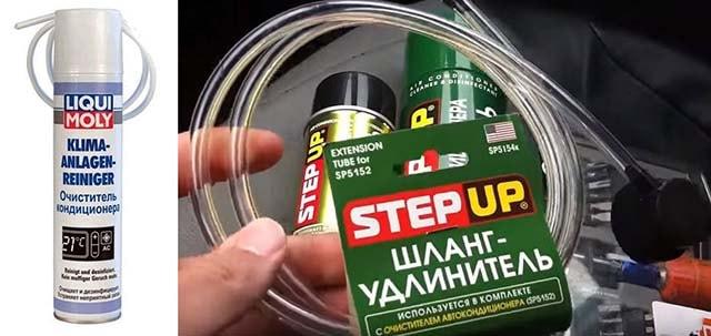 Пінні дезінфікуючі засоби Liqui Moly і Step Up