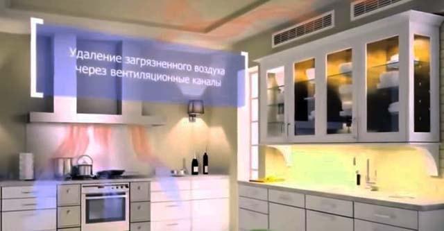 Обновление кислорода на кухне