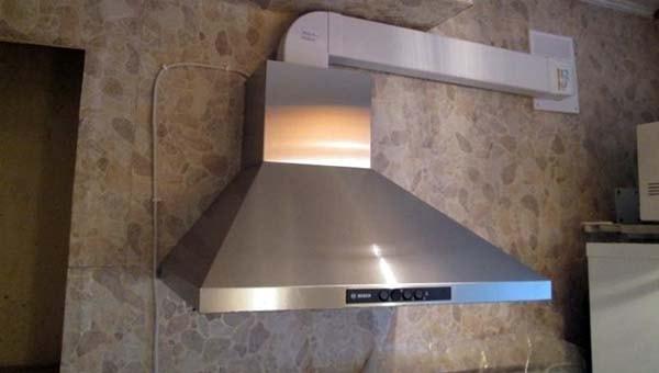 Подключение вентканала на кухне