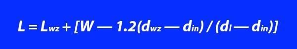 Расчетная формула расхода притока по влагосодержанию