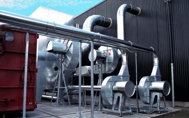 Монтаж промышленных вентиляторов