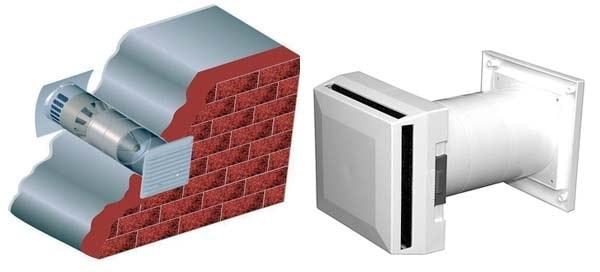 Стіновий припливний пристрій
