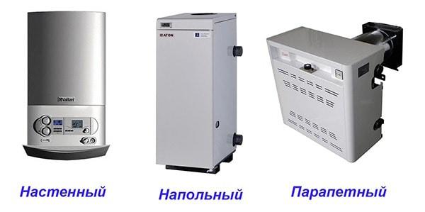 Разновидности отопительных агрегатов на газе