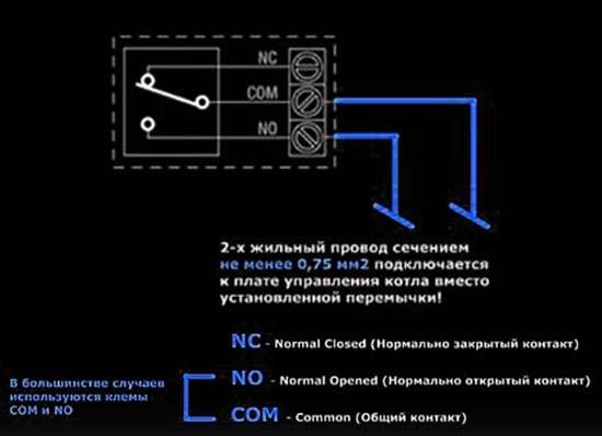 Маркування клем регулятора температури