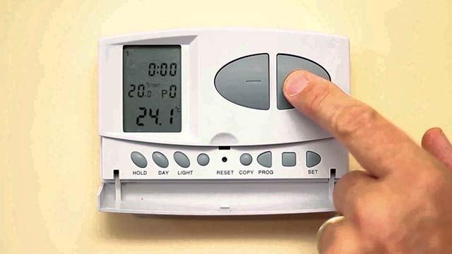 Настройка температуры нагрева комнатного воздуха
